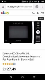 Daewoo KOC8HAFR 24L Combination Microwave Oven and Fat Free Fryer in Black