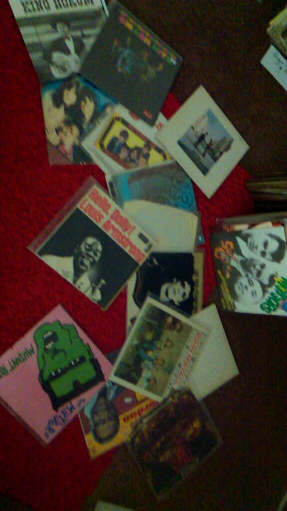 Vynil records too many to list