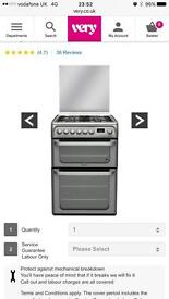 Hotpoint Dual Fuel cooker - new today