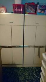2x double wardrobes 2x chest of drawers