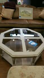 Coffee table. Very solid. Shabby chic finish
