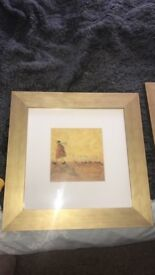 Pictures gold framed wall art