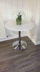 Dwell white high gloss dining table