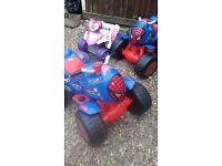 Quads ( x2 spiderman and 1 pink)