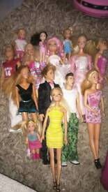 Mixture of dolls and toys