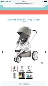 Quinny mood stroller, maxicosi car seat and isofix