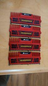 16gb or 8gb DDR3 corsair vengeance 1600mhz 4 x 4gb