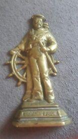 Antique Solid Brass Doorstop