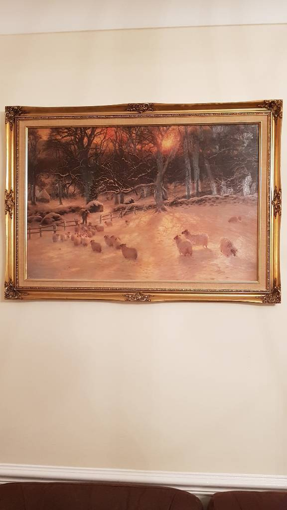 Painting by joseph farquharson the shortening winter's day