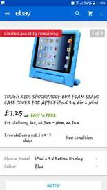 Case cover for Ipad 3/4/Air 2 Blue