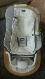 Chicco reclined cradle