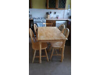Solid Pine Table and 4 chairs - Free- buyer collects before 3rd October