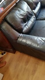 Leather sofafa 3 seat