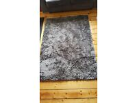 LOVELY LARGE SLATE GREY RUG (NEXT) 69in x 49in VGC