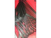 NEW White or Silver Metal Wire Strong Hangers for Clothes/Garments (Coat/Dress/Trousers/ Tops)