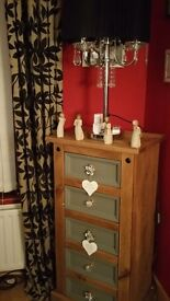 CHAIR ....LAMP ....CHEST DRAWERS