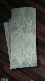 Dunelm vintage style lined pencil pleat curtains in VGC