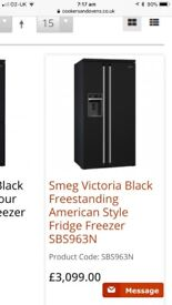 Smeg Victoria American fridge freezer