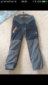 Stihl Forest wear Hi flex chainsaw trousers