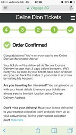 Celine Dion Aug Manchester x 2
