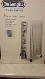 Delonghi 2kw Electric oil radiator.