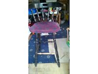 High Chair and low chairs