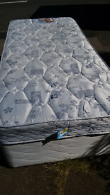Single bed, complete with mattress. Quick FREE Delivery . Nice and clean, no stains. Good quality