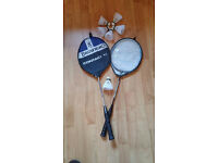 Two Badminton Rackets & Tube of Shuttlecocks - Browning Contact Ti