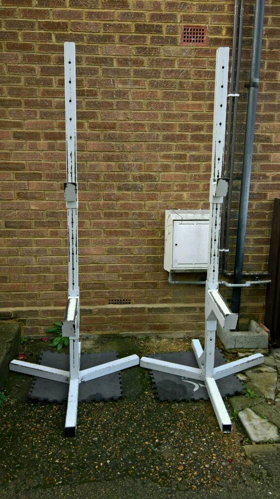 Commercial Bench and Squat Stands Like Watson Power Stands with Flat and Incline Bench