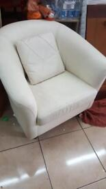 Lovely white 1 seater sofa ARMCHAIR