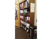 large free standing solid wood shelving unit