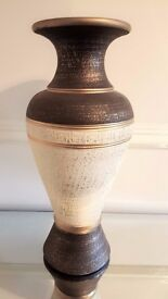 Extra Large Vase (Height 51cm) Bronzey Brown/Cream/Gold Colour - Immaculate Condition/No Damage