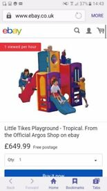 For sale a little tikes climbing frame