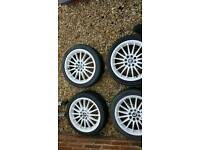 Alloy wheels and spacers