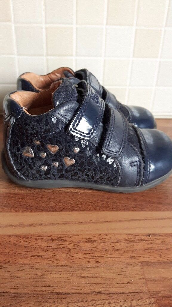 Girls GEOX ankle boots infant size 4 1/2