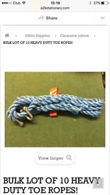 Brand new 10 tow ropes for cars! Bulk clearance items!