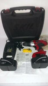 NEW SKIL 14.5 Volt 3/8-Inch Drill Cordless Driver 1250 RPM  Kit 2 Batteries 1.4 Plenty of Power at an Exceptional Value