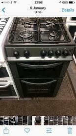 Black logic 50cm gas cooker grill & oven good condition with guarantee
