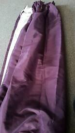 Pair of purple curtains good condition