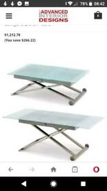 Calligaris glass table