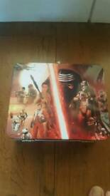 Brand New star wars collectors tin and trump cards