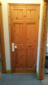 FREE- 9 Solid Pine Doors, with white porcelain handles and 6 plates