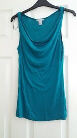 H and M Teal top XS