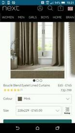 High quality Next curtains - only 6months old& half Next selling price