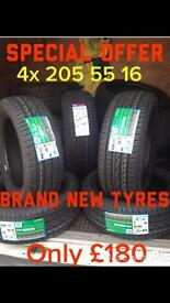 205 55 16 brand new tyres FREE FITTING card payment accepted