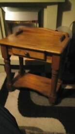 Old solid pine hall table.
