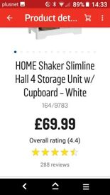 Brand new, assembled only yesterday, hall storage unit,