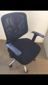 BLACK OFFICE CHAIRS X10
