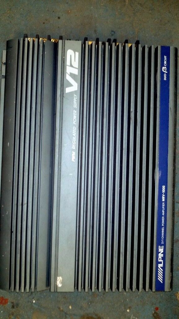 ALPINE MRV-1000 2 channel amplifier V12 ( Early 90s RARE)