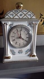 Porcelain Past Times battery clock